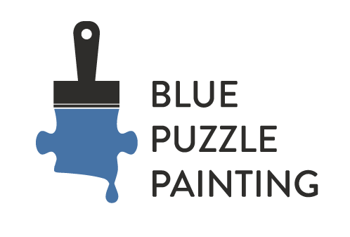 Blue Puzzle Painting